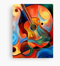 guitar painting Canvas Print