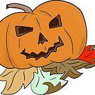 Halloween Jack O Lantern 1 2017 by Fiona Lokot
