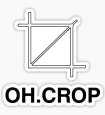 Oh crop Sticker