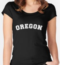 Oregon Women's Fitted Scoop T-Shirt