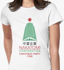 Nakatomi Corporation Christmas Party Tower Variant Women's Fitted T-Shirt