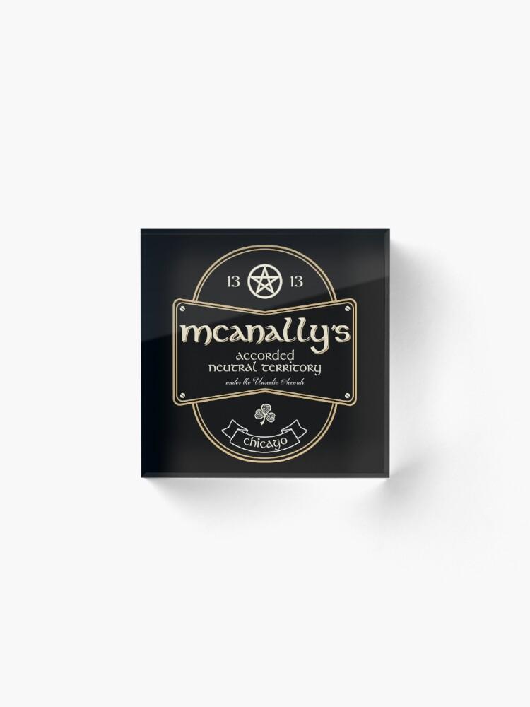 Alternate view of McAnally's Pub Acrylic Block