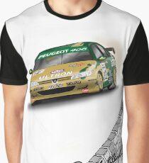 Rallyist Art BTCC Peugeot 406 Graphic T-Shirt