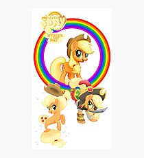 applejack is best pony Photographic Print