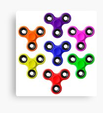 Finger Spinners Multi Coloured Canvas Print