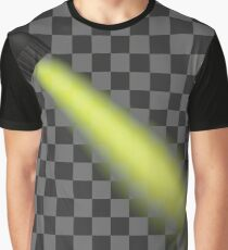 Yellow Light of Torch Isolated on Checkered Background Graphic T-Shirt