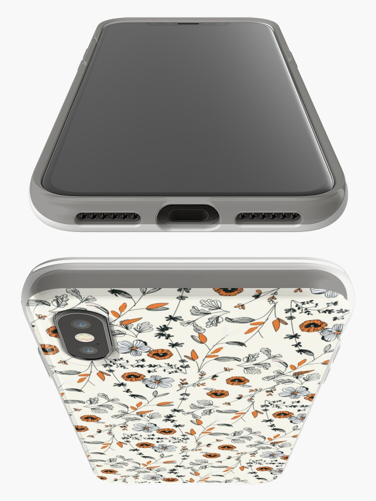 Alternate view of Orange Flower Pattern iPhone Case & Cover