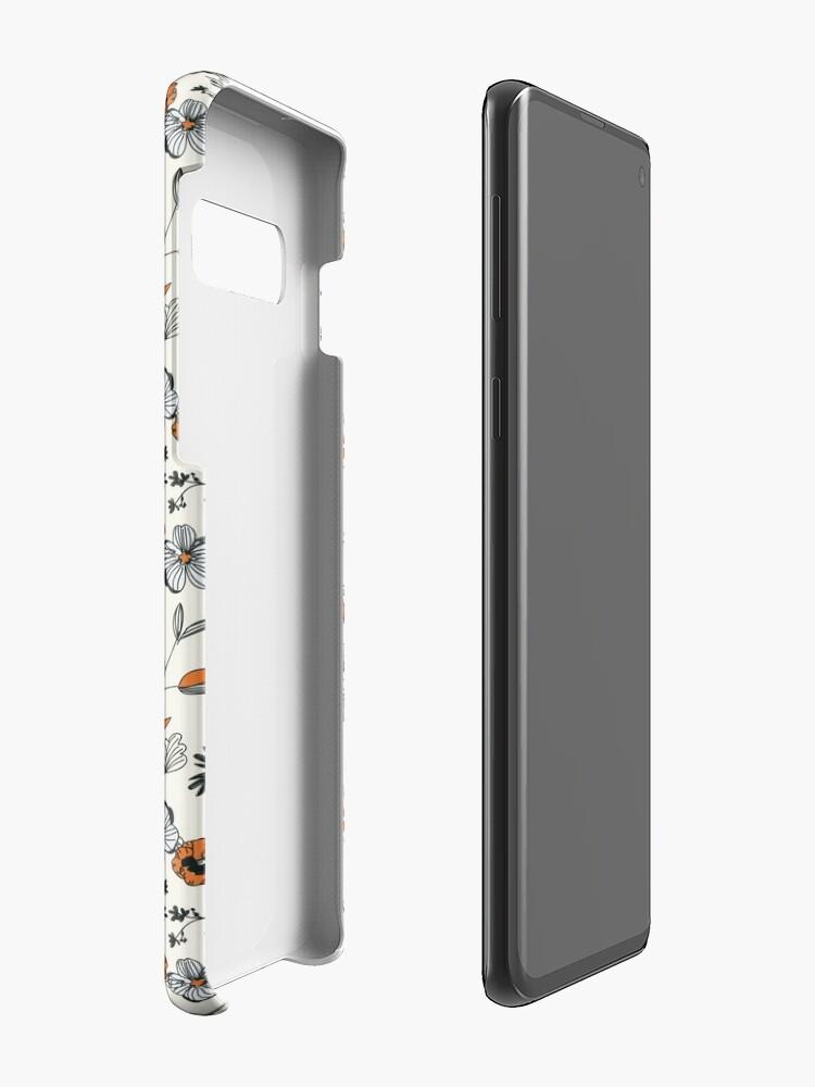 Alternate view of Orange Flower Pattern Cases & Skins for Samsung Galaxy