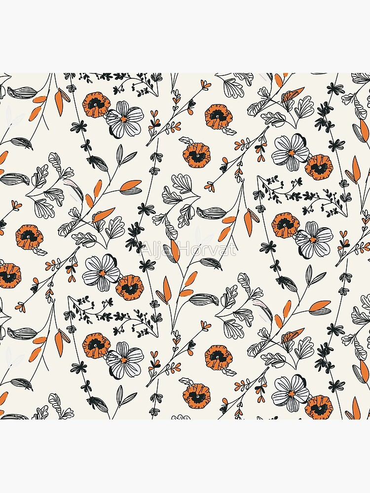 Orange Flower Pattern by chotnelle