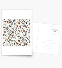 Orange Flower Pattern Postcards