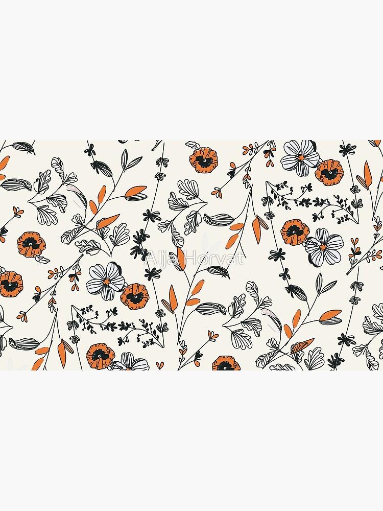 Orange Flower Pattern by chotnelle