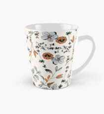 Orange Flower Pattern Tall Mug
