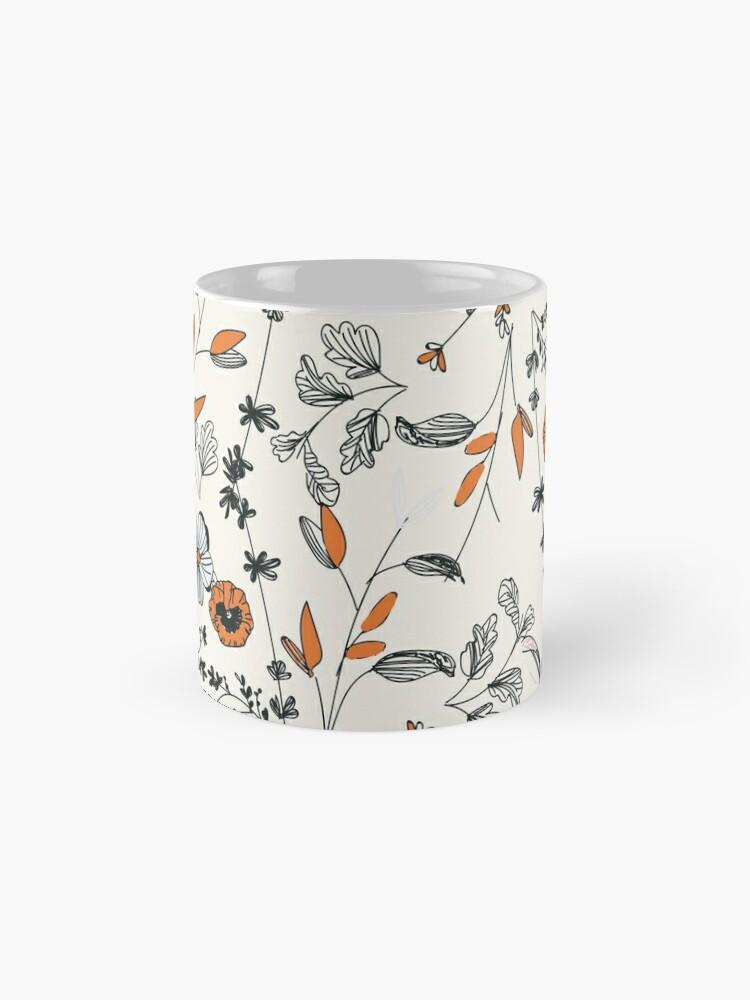 Alternate view of Orange Flower Pattern Mug