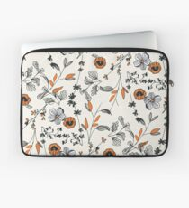 Orange Blumenmuster Laptoptasche