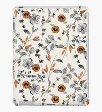 Orange Flower Pattern iPad Case/Skin