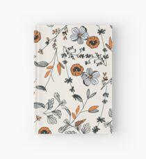 Orange Blumenmuster Notizbuch
