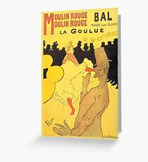 HENRI DE TOULOUSE LAUTREC, MOULIN ROUGE, POSTER Greeting Card