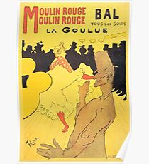 HENRI DE TOULOUSE LAUTREC, MOULIN ROUGE, POSTER Poster