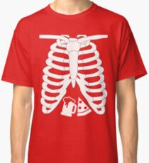 PIZZA AND BEER RIB CAGE X-RAY Halloween T-Shirt Classic T-Shirt