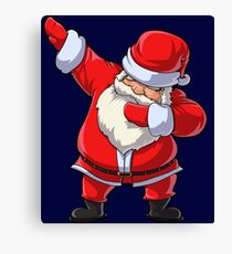 Santa Claus Dabbing T Shirt Christmas Funny Dab Dance Gifts Canvas Print