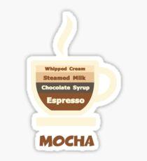 Cafe Mocha Cup // Coffee Art Sticker
