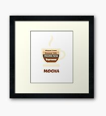 Cafe Mocha Cup // Coffee Art Framed Print