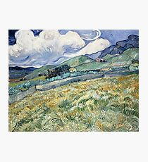 Van Gogh - Landscape from Saint-Rémy, 1889  Photographic Print