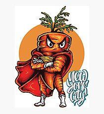 The Angry Carrot / Foodietoon SuperHero / NYC Photographic Print