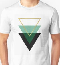 Green and gold triangoles T-Shirt