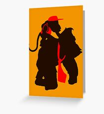 DK and Diddy (large print) Greeting Card