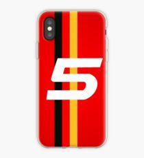 sebastian vettel 5 logo and German stripes iPhone Case