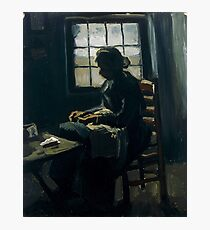 Vincent van Gogh - Woman Sewing, 1885  Photographic Print