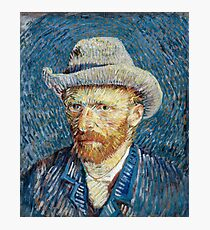 Self-portrait with Grey Felt Hat by Vincent Van Gogh 1887  Photographic Print