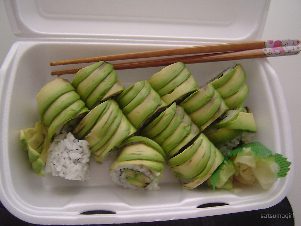 Take out: Avocado Rolls by satsumagirl