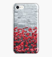Tower Poppies 02B iPhone Case/Skin