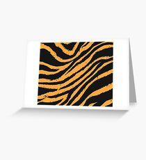 Tiger Stripe Greeting Card