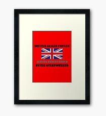 British Armed Forces Framed Print