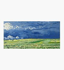 Wheatfield under Thunderclouds by Vincent Van Gogh  Photographic Print