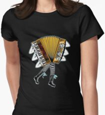 Accordion Avatar Women's Fitted T-Shirt