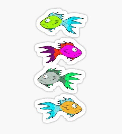 Neon Fish Sticker