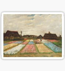 Flower Beds in Holland by Vincent Van Gogh 1883  Sticker