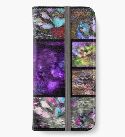 Crazy Paw Print Collage iPhone Wallet