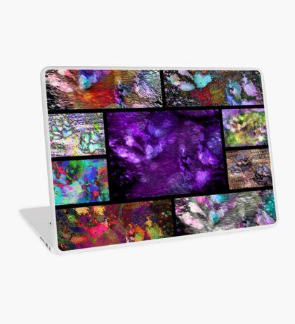 Crazy Paw Print Collage Laptop Skin