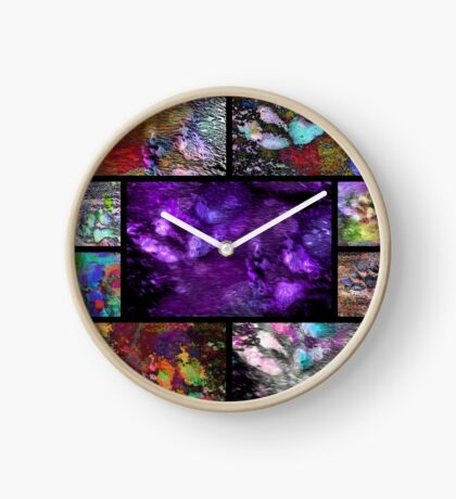 Crazy Paw Print Collage Clock