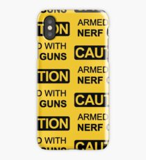 Armed with Nerf Guns iPhone Case/Skin
