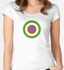 Roundel of Equatorial Guinea Air Force  Women's Fitted Scoop T-Shirt