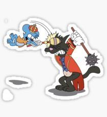 itchy and scratchy Sticker