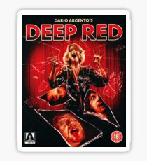 Deep Red - Arrow Video  Sticker