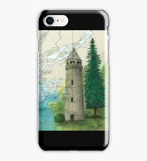 Sackets Harbor Lighthouse NY Cathy Peek Nautical Chart Map iPhone Case/Skin