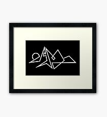Simple Geometric Line Landscape Framed Print
